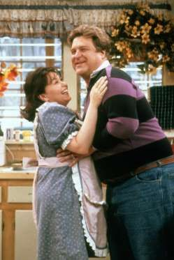 "On ""Roseanne,"" Roseanne Barr played the title character, and John Goodman played her on-screen husband, Dan Conner"