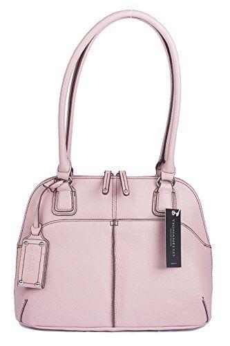 Tignanello Fab Function Dome Satchel Handbag Mauve