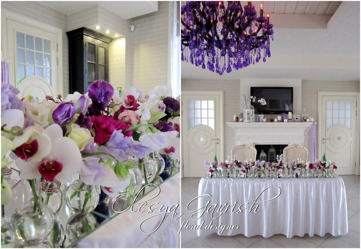 Олеся Гавриш - флорист-дизайнер - Жанна и Дмитрий. Фиолетовая свадьба.