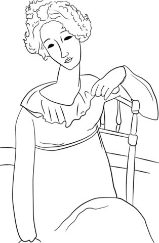 Women with Red Hair by Amedeo Modigliani coloring page from Amedeo Modigliani category. Select from 26278 printable crafts of cartoons, nature, animals, Bible and many more.