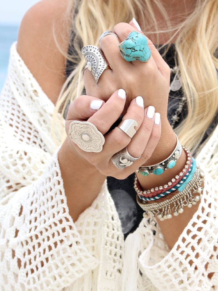 I want it all ☆ Our wave ring seen on Gypsylovinlight  www.etsy.com/shop/mermaidbyhand