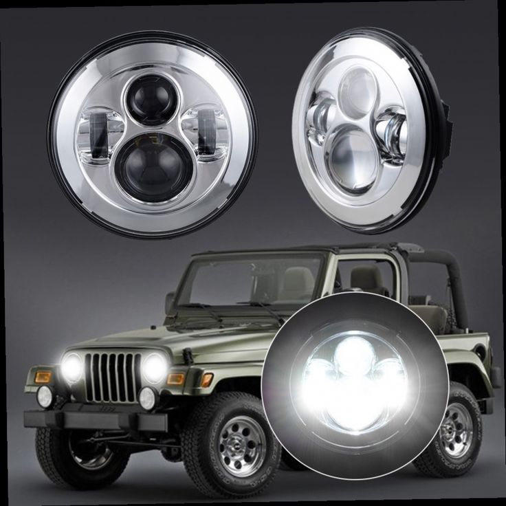 "93.00$  Buy now - http://alilwq.worldwells.pw/go.php?t=32722426249 - ""7"""" Round 40W 4800LM White LED Hi/Lo Beam Projector H4-H13 Headlight for Jeep Wrangler JK LJ CJ TJ "" 93.00$"