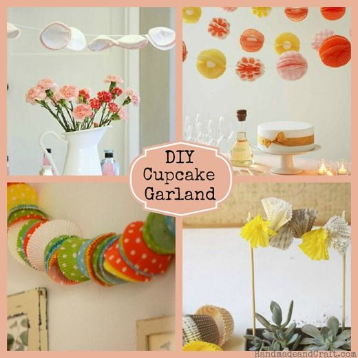 DIY Party Ideas...Cupcake Liner Garland ...sweet !