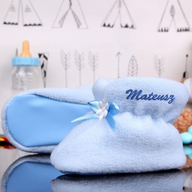 Personalizowane buciki niemowlęce BABY BOY