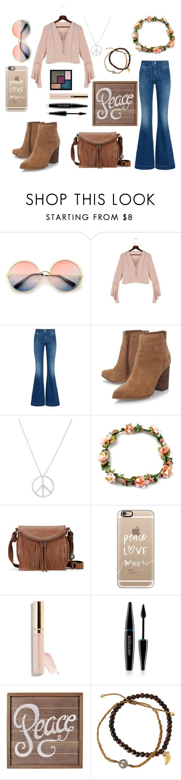 """Hippies Costume"" by rymae27 ❤ liked on Polyvore featuring ZeroUV, STELLA McCARTNEY, Nine West, Roberto Coin, The Sak, Yves Saint Laurent, Casetify, Beautycounter, MAKE UP FOR EVER and Tai"