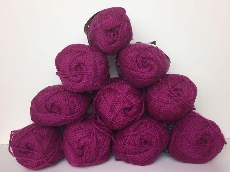 Lot of 10 Skeins Bear Brand Wool and Shetland Wool Yarn Color 303 Vintage #BearBrand #Aran