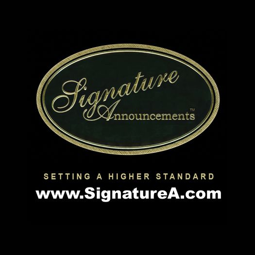 Signature Announcements is a family owned business that has been producing the highest quality graduation memorabilia since 1994. Our pursuit of the highest standards of product quality, customer service and affordable pricing has made us the fastest growing graduation announcement company in the country!