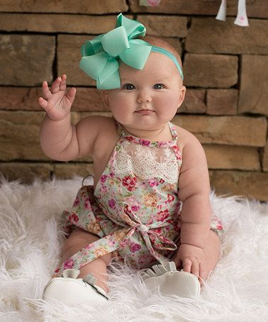 Mint Floral Country Girl Bubble Romper - Infant #zulily #zulilyfinds