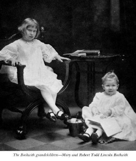 Robert Lincoln's grandchildren, Mary and Robert Todd Lincoln Beckwith