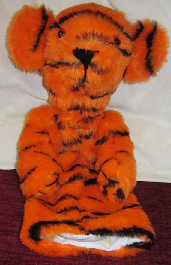 Tiger Arm Puppet Toy Kids Activity Toy Made to Measure Boy Toddler Toy Girl Toddler Toy Tiger Toy  for Toddlers Teacher Aid Teaching Toy