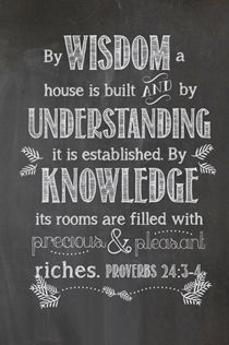 proverbs 24:3,4 - Bing Images