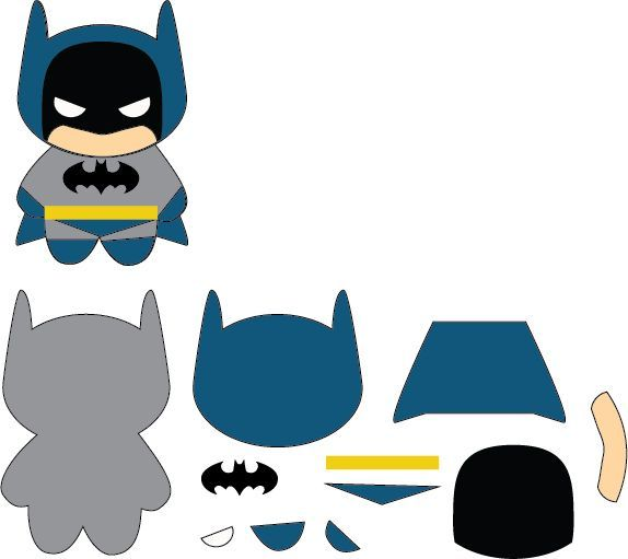 Batman Kawaii Patch Plushie by Mokulen22