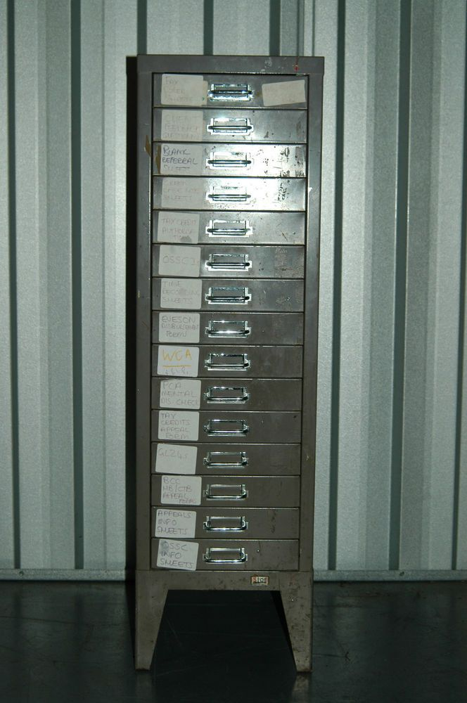 Vintage+industrial+filing+cabinet+15+drawers+by+STOR+retro+mid+century+50s+60s