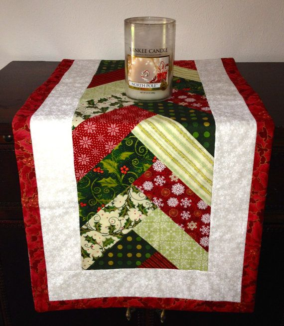 Basket Weave Christmas Tree Table Runner