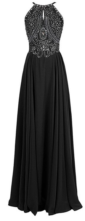 shedress.storenvy.com Fashion A-line Halter Straps Chiffon Long Prom Dress With…