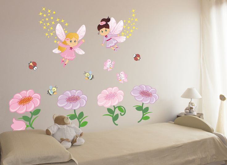 wall stickers bambine : Wall Stickers bambini, Adesivi murali. Kit Le Fate dei Fiori ...