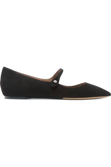 Tabitha Simmons - Hermione Suede Point-toe Flats - Black - IT36.5