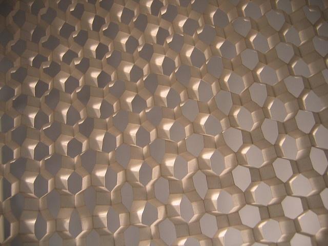 kirigami honeycomb in progress by polyscene, via Flickr