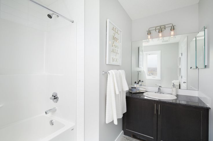 Ensuite in Creations by Shane Homes Samara Showhome in Midtown in Airdrie #bathroom #bath #ensuite