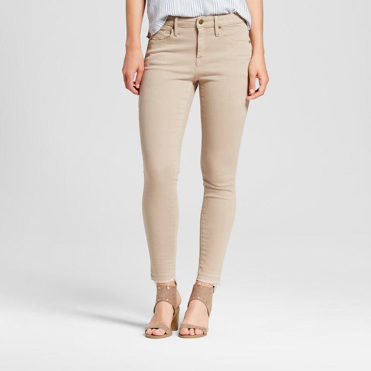Women's Jeans High Rise Skinny - Mossimo Khaki 12 Short, Brown