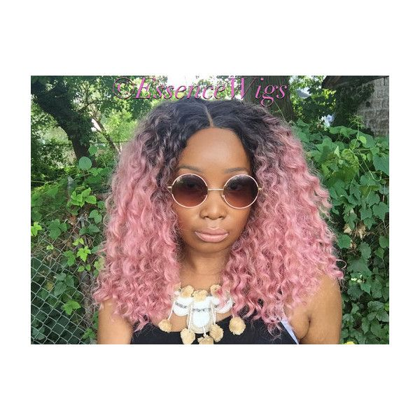 Essence Wigs Ain T Nothing But A Pink Thang Lacefront Wig Natural 127 Liked On Polyvore Featuring Beauty Curly Hair Styles Curly Hair Care Hair Tools