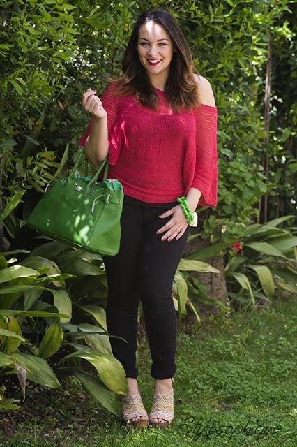 Rosso, verde e fantasia Zig-zag #outfit #fashionblogger #curvy