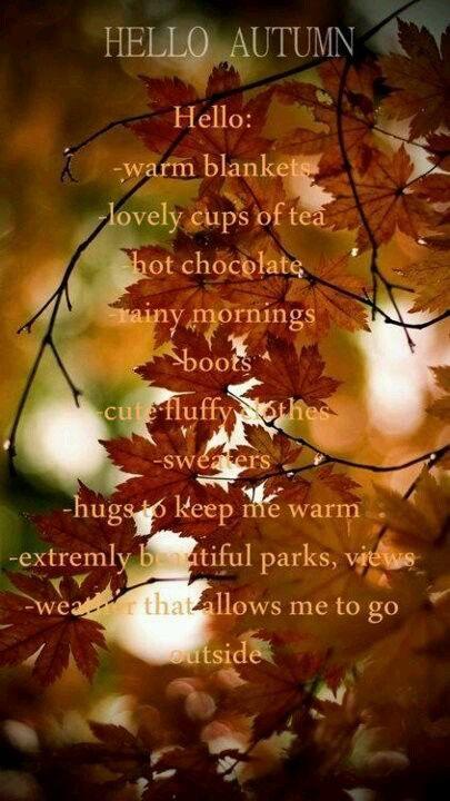 Welkom herfst! #herfst #quote