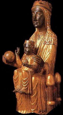 """Nuestra Señora de Montserrat, """"La Moreneta"""", es una de las milagrosas vírgenes negras. Patrona de Cataluña, celebramos su santidad el 27 de abril."""