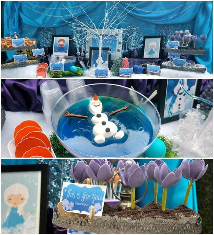 Frozen inspired birthday party full of cute ideas via Kara's Party Ideas | KarasPartyIdeas.com