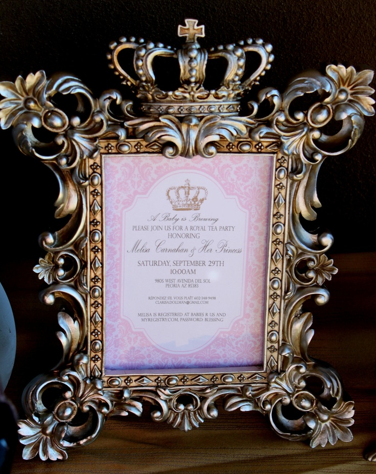 ROYAL TEA Party! Bridal shower please - English Tea -Krown Kreations. $6.00, via Etsy.