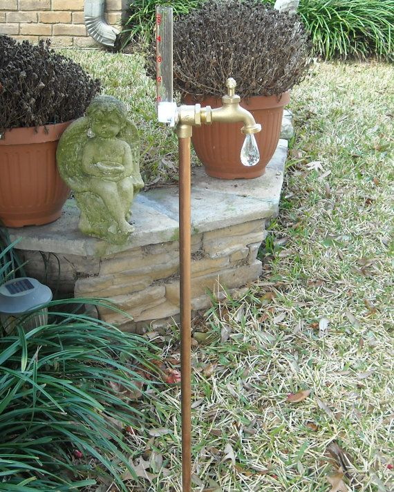Rain gauge copper and brass great gift by westmountaincrafts, $29.75