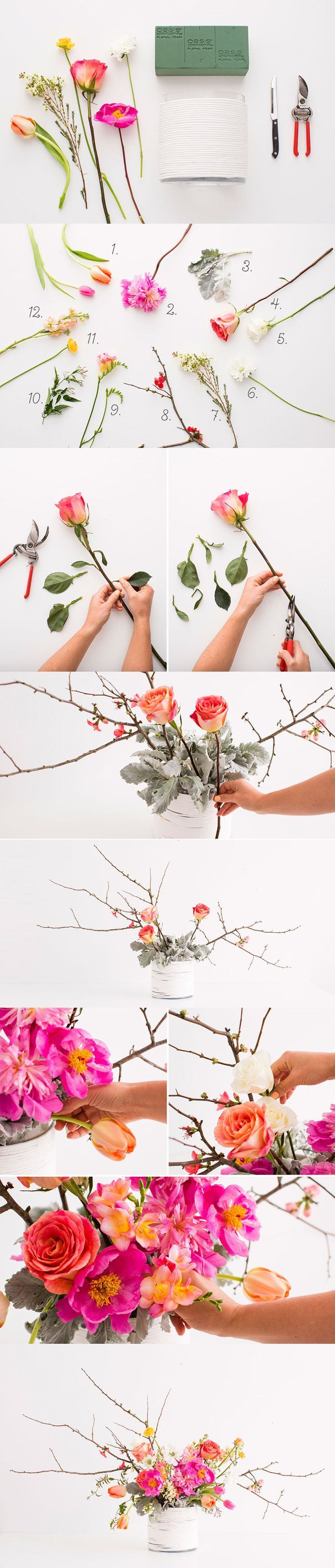Learn how to make a gorgeous flower arrangement with these tips.