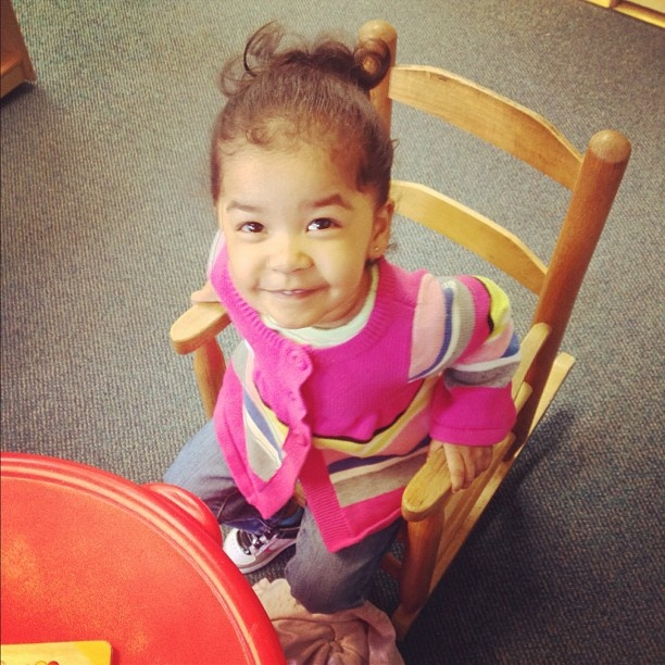 Look at my schatzi!! First day of day care!! Pretty girl!  @shopjailbird #Padgram