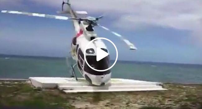 Helicóptero Atingido Por Rajada De Vento No Momento Da Aterragem Bate Contra Árvore