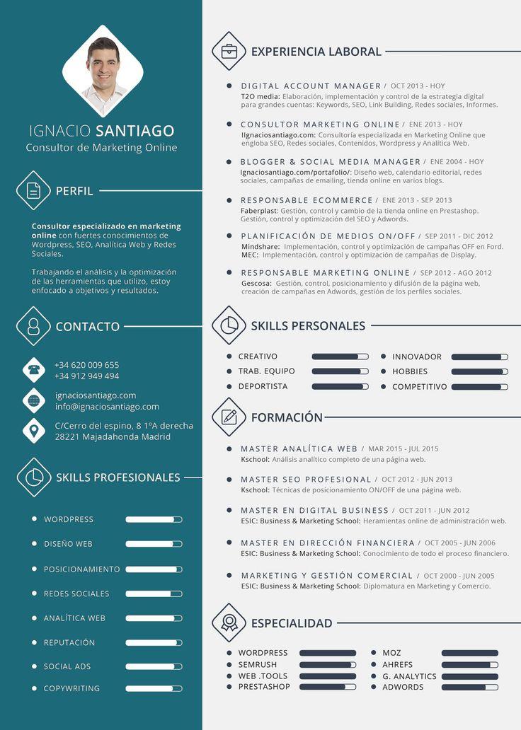plantilla curriculum vitae cv ignacio santiago                                                                                                                                                     Más