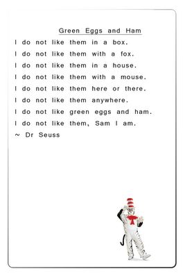 writing a dr seuss poem