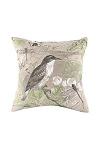 PRINTED BIRD 45X45CM SCATTER CUSHION COVER 2 PACK