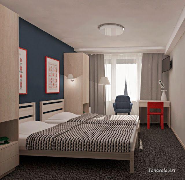 Дизайн интерьера маленького номера в отеле