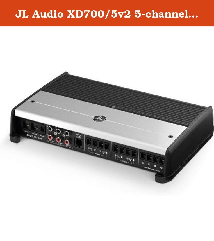 JL Audio XD700/5v2 5-channel car amplifier - 75 watts RMS x 4 at 4 ohms + 300 watts RMS x 1 at 2 ohms. General Features: XDv2 Series Class D 5-Channel Amplifier RMS Power Rating @14.4V: Channel 1 - 4 4 ohms: 75 watts x 4 chan. 2 ohms: 100 watts x 4 chan. Bridged 4 ohms: 200 watts x 2 chan. RMS Power Rating @14.4V: Sub Channel 4 ohms: 180 watts x 1 chan. 3 ohms: 240 watts x 1 chan. 2 ohms: 300 watts x 1 chan. RMS Power Rating @12.5V: Channel 1 - 4 4 ohms: 60 watts x 4 chan. 2 ohms: 90 watts…