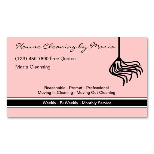 20 best house cleaning business cards images on pinterest for Business cards for cleaning services