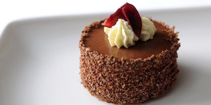 Stephen Crane's enticing Black Forest gâteau recipe easily trumps the frozen version and gives the classic dessert a much needed makeover. A top layer of chocolate sponge gives way to a melange of extraordinary flavours. Serve with cherry sorbet for an added touch.