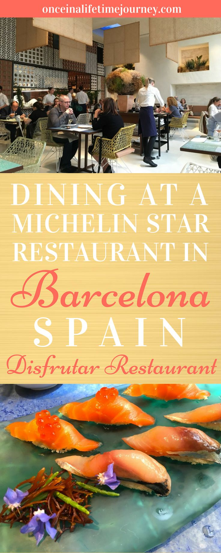 Disfrutar in Barcelona is a two Michelin Star Restaurant that is strongly rooted in Catalan tradition, with several details that refer to the childhood of those born in the 80s and which may escape foreigners. It also continues elBulli's innovative, creative and out of the box molecular cuisine thinking with dishes that are a show of skill and invention. Click through to read my review of Disfrutar in Barcelona.   Once in a Lifetime Journey #disfrutar #michelinstar #finedining #barcelona…