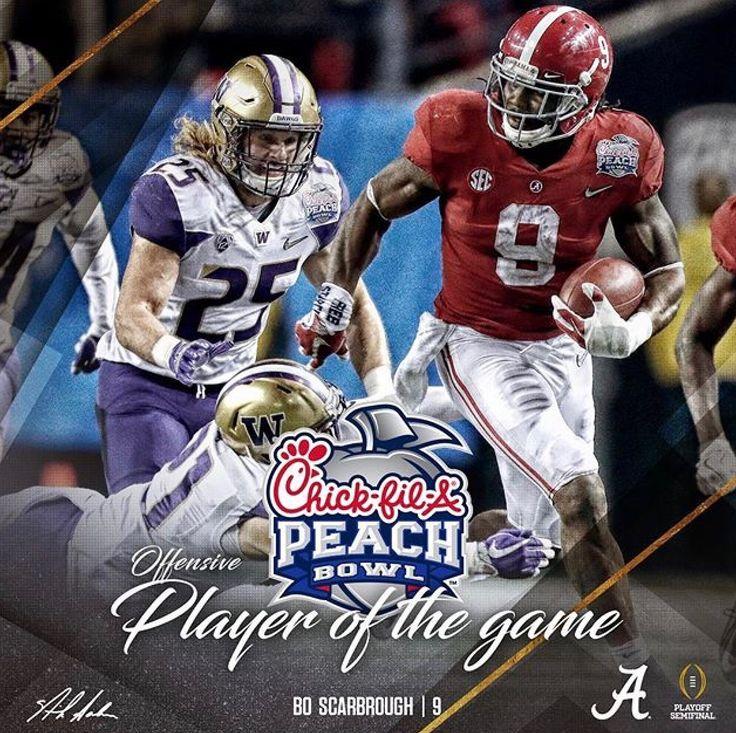Bo Scarborough, Offensive Player of the Game | Alabama 24 Washington 7 in the 2016 Peach Bowl CFB Playoff. #CFBPlayoff #BAMAvsWASH #PeachBowl #Alabama #RollTide #Bama #BuiltByBama #RTR #CrimsonTide #RammerJammer