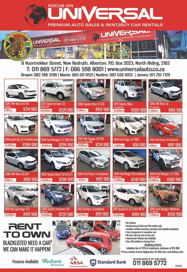 Focus on UNIVERSAL Premium Auto Sales & RENT2BUY Car