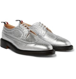 Footwear Finds Put some sparkle in your step with these #ThomBrowne Metallic Leather #LongwingBrogues @MRPORTERLIVE