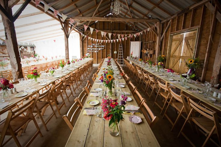 """Brick House farm in Kent """"'Darling Buds of May' is the way people usually describe the style of wedding that we have here on the farm"""""""
