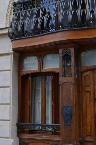 Art nouveau immeuble au 23 rue ballu paris 9 me for La 9eme porte