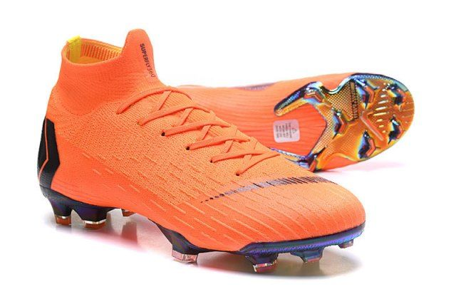 0498761393e10 Latest Style Nike Mercurial Superfly VI Elite FG Flyknit 360 Orange Black  Men's Firm-Ground Soccer Shoes NIKE011566