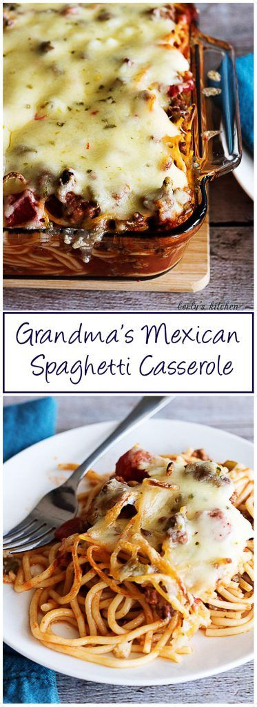 Grandma's Mexican Spaghetti Casserole is a recipe that honors Kim's Grandmother. She prepared this a flavorful, spicy twist on an Italian favorite. via @berlyskitchen