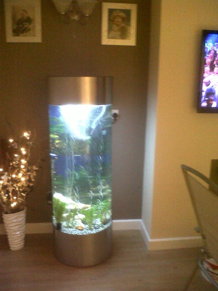 Acrylic tower column aquarium fish tank 1000 aquarium ideas for Plastic fish tank